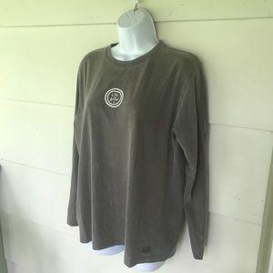 Life Is Good | Brown Long Sleeve T-Shirt Logo Sz M